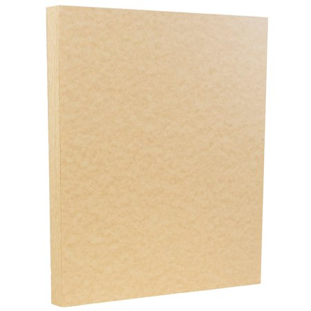 Envirotec Recycled Paper (JAM Paper Parchment Paper, 8.5 x 11, 24 lb Brown Recycled, 100/pack )