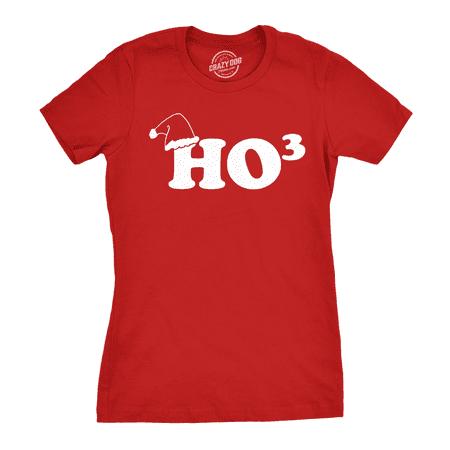 Women's Ho To The Third T Shirt Funny Christmas Hohoho Tee for women