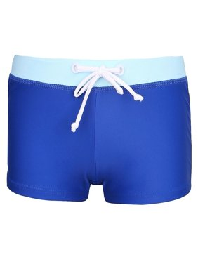Sun Emporium Baby Boys Dark Blue Drawstring Waist Euroleg Swim Shorts