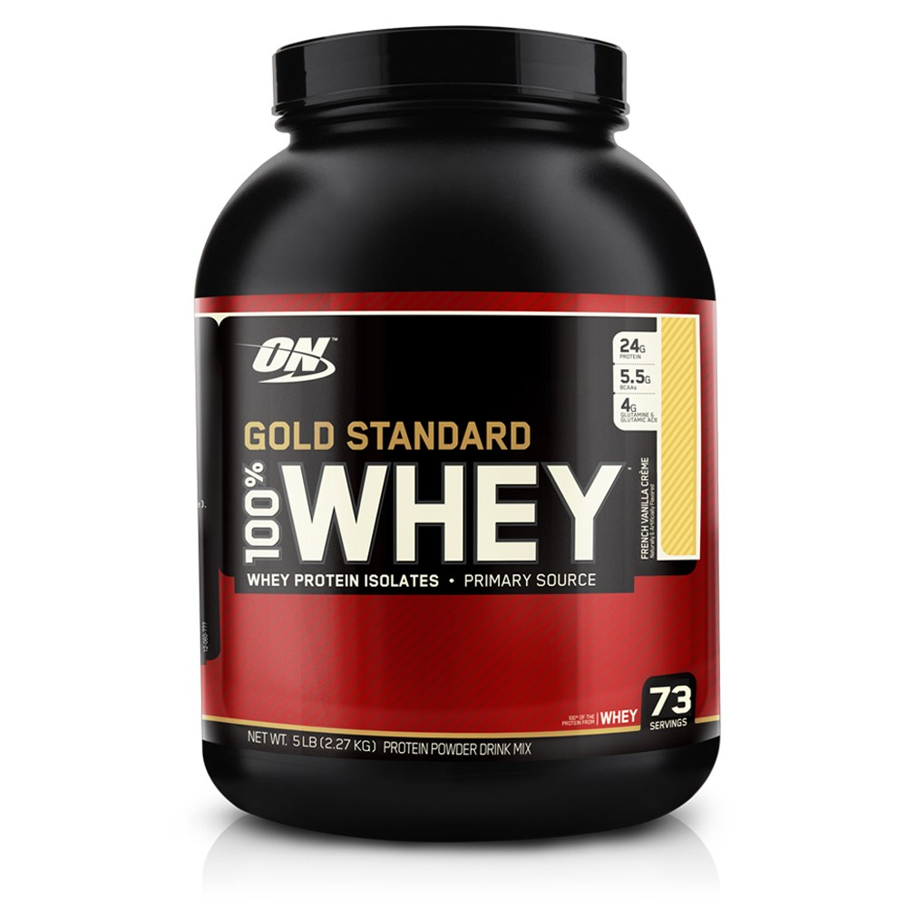 OPTIMUM NUTRITION GOLD STANDARD 100% WHEY (5 LB) Protein Isolates Powder 5lbs- French Vanilla