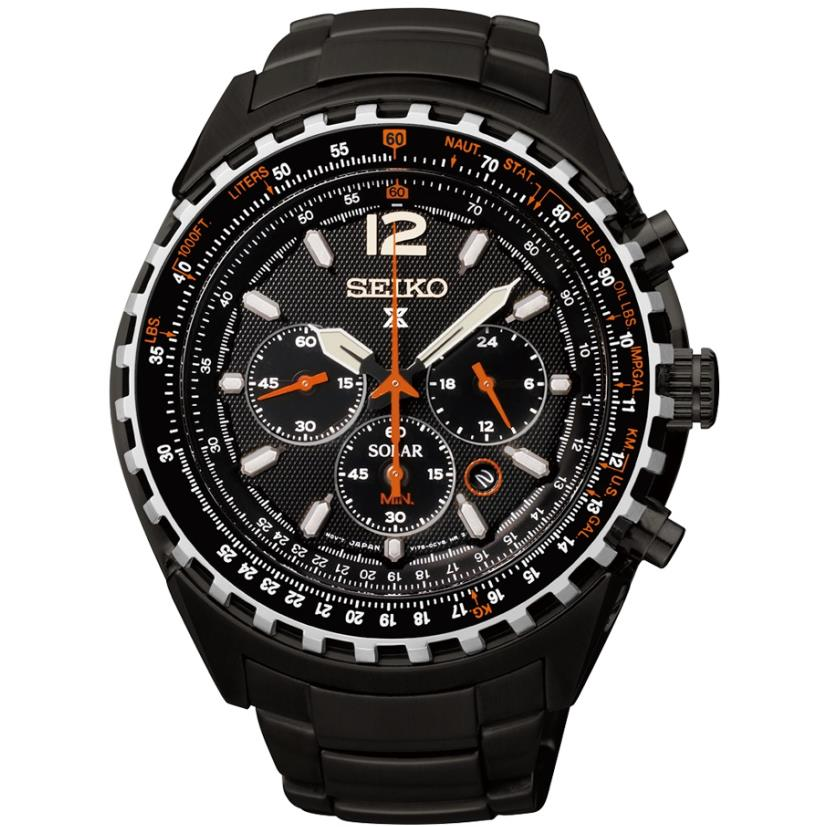 Seiko Men's Prospex 46.1mm Black IP Steel Bracelet & Case Anti Reflective Sapphire Solar Watch SSC263P1