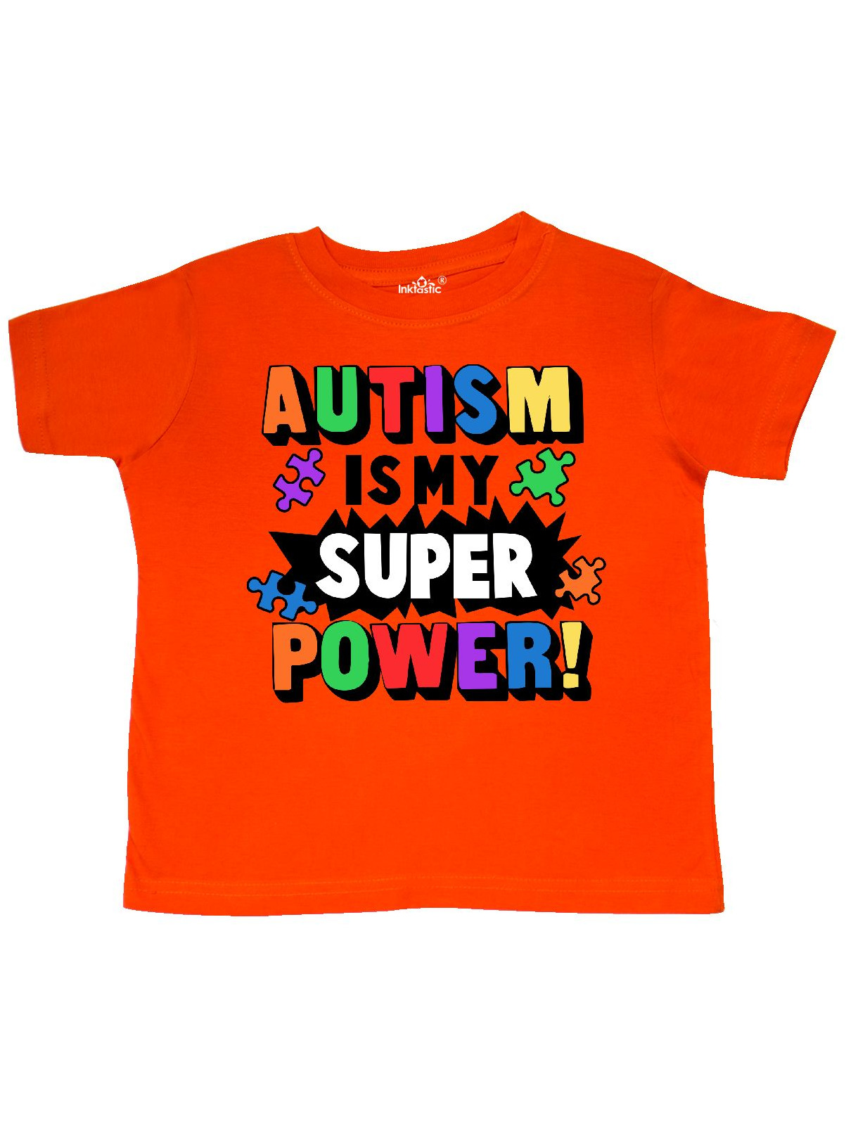 Autism is my Super Power with Puzzle Pieces Toddler T-Shirt