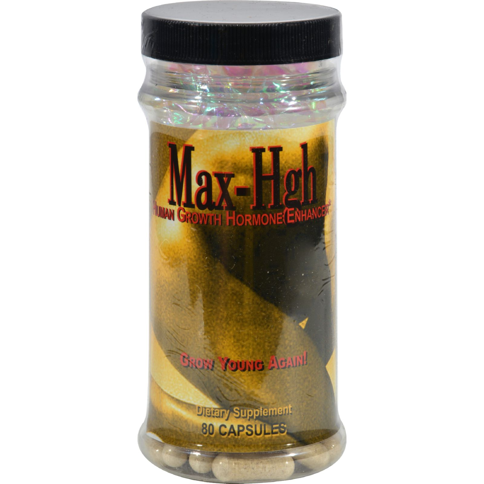 Maximum International Max HGH Human Growth Hormone Enhancer Capsules, 80 Ct