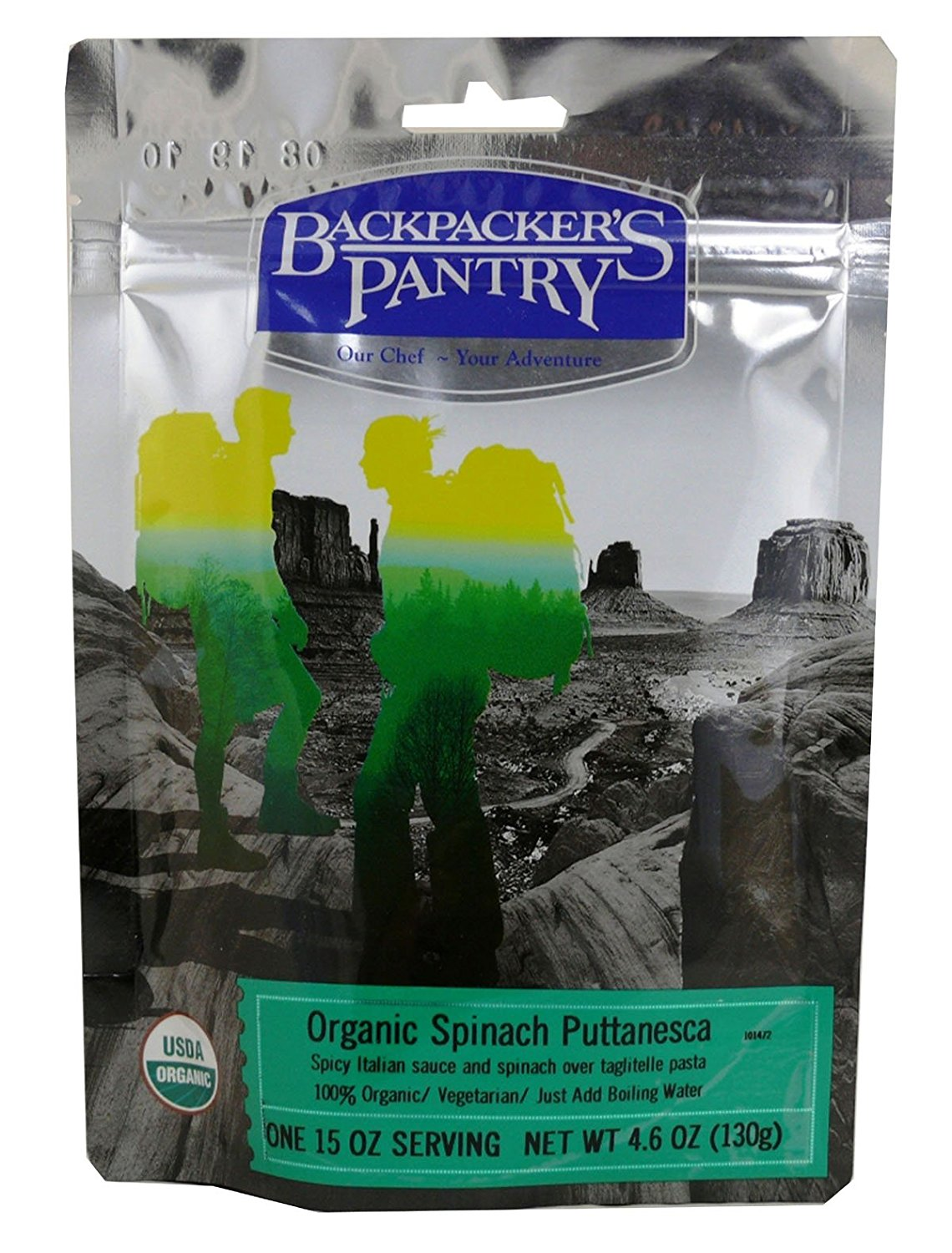 Organic Spinach Puttanesca 1 Person Meal..., By Backpacker's Pantry Ship from US by