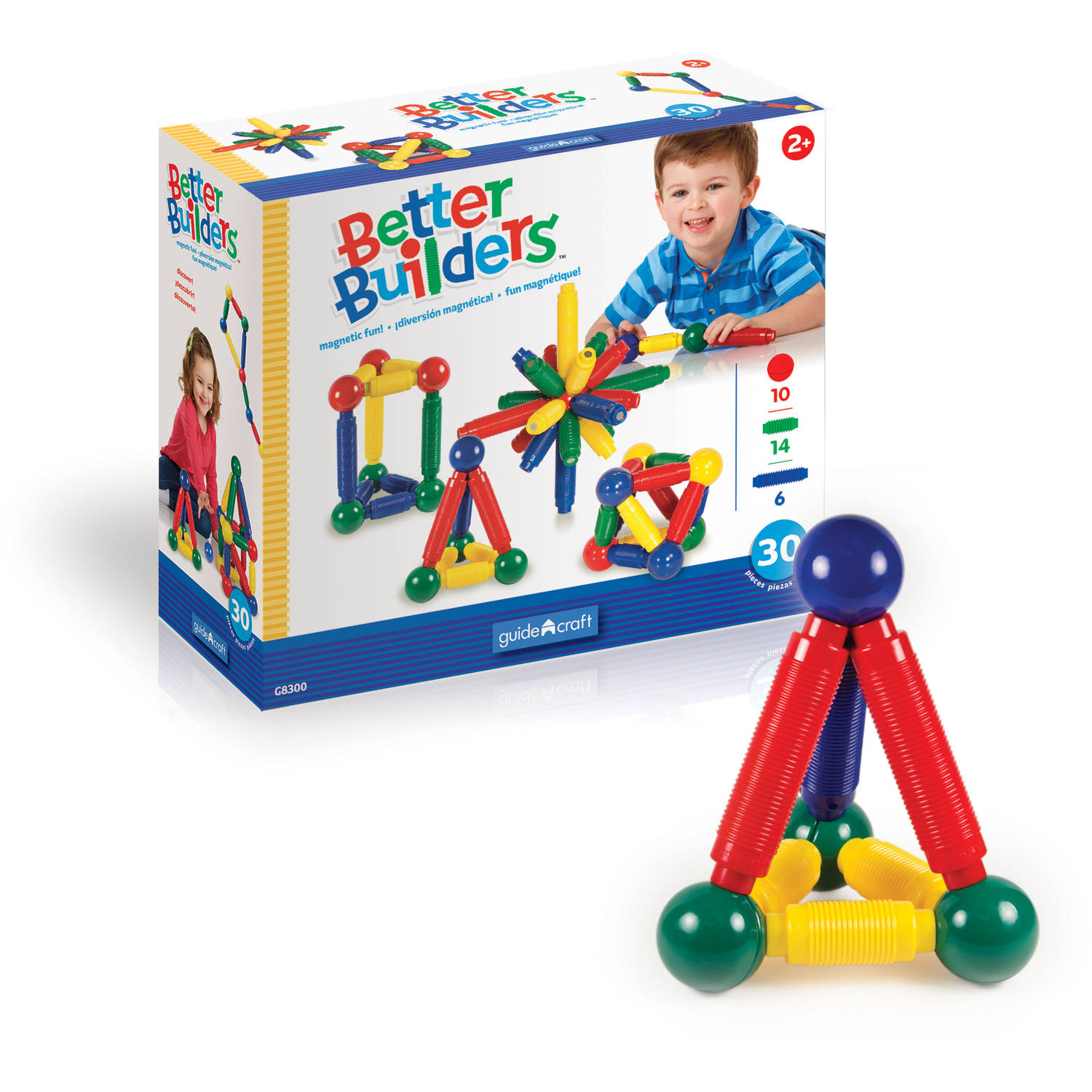 Guidecraft Better Builders Play Set, 30-Piece
