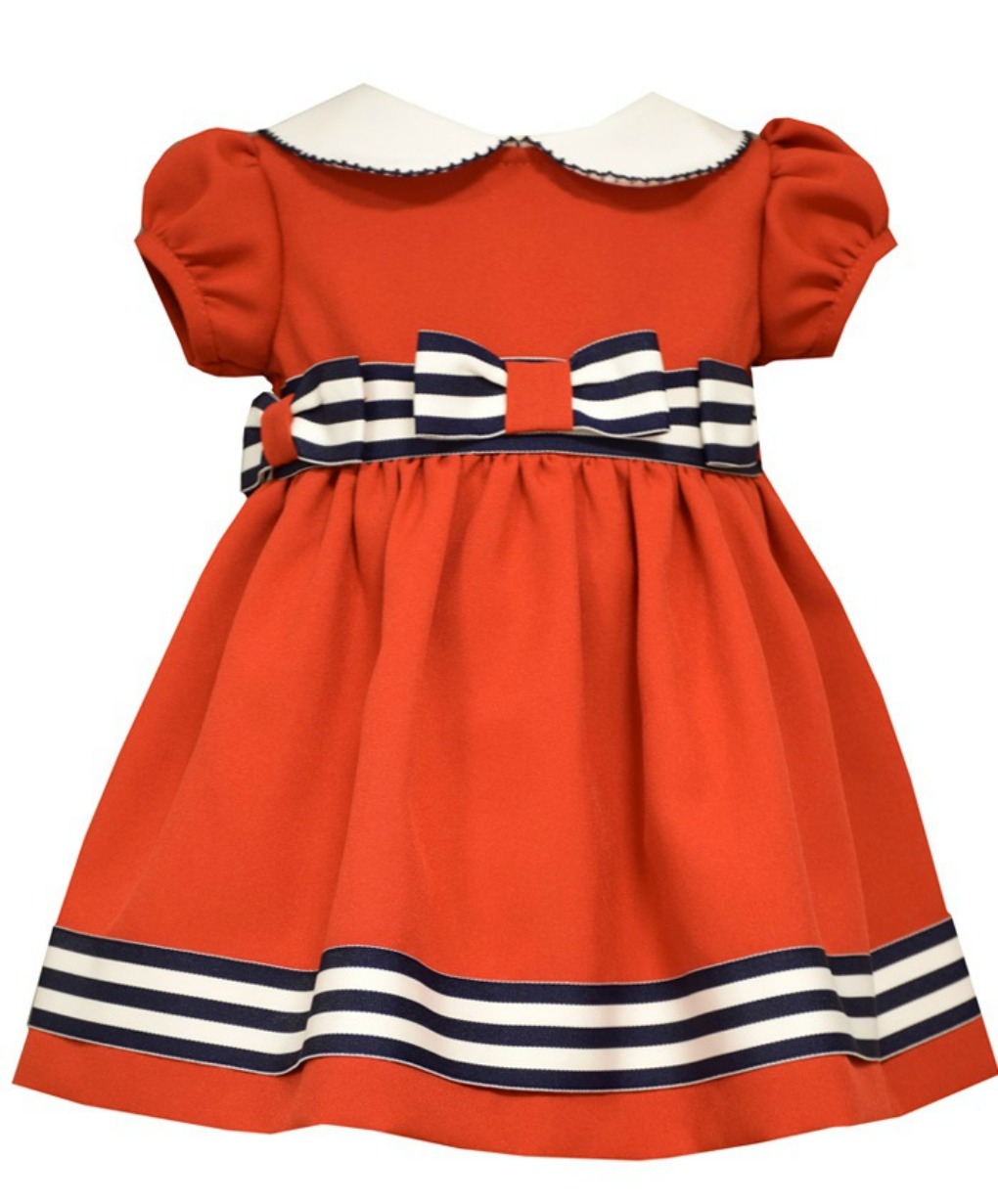 70b81089e7ae Bonnie Jean - Bonnie Jean Baby Girls Red Stripe Bow Dress 0-3 months ...
