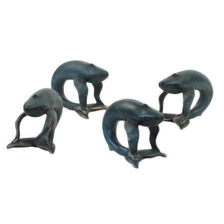 Koyal Wholesale Whale, Navy Blue 4-Pack Napkin Rings for Wedding Reception, Dinner Party, Holiday Dinner (Wholesale Napkin Rings)