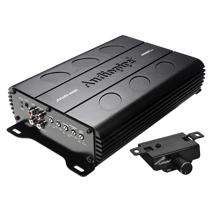 Audiopipe APMI600 Mini Amplifier 600 Watt D Class 1 Ohm With Bass Knob
