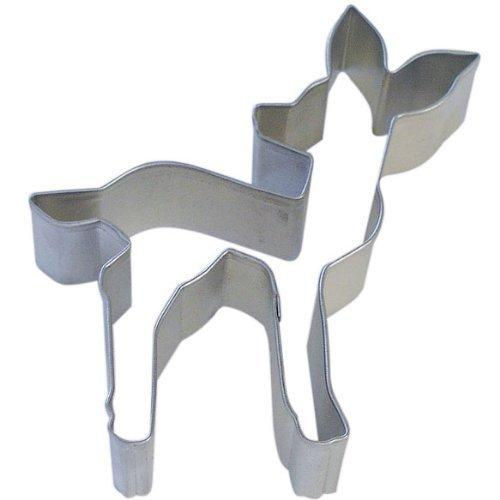 R & M Fawn Cookie Cutter, 4.5-Inch, Silver