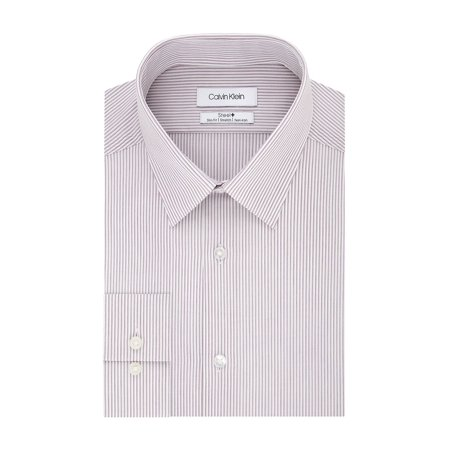 Slim-Fit Striped Stretch Dress Shirt (Forzieri Variegated Stripe Dress Shirt)