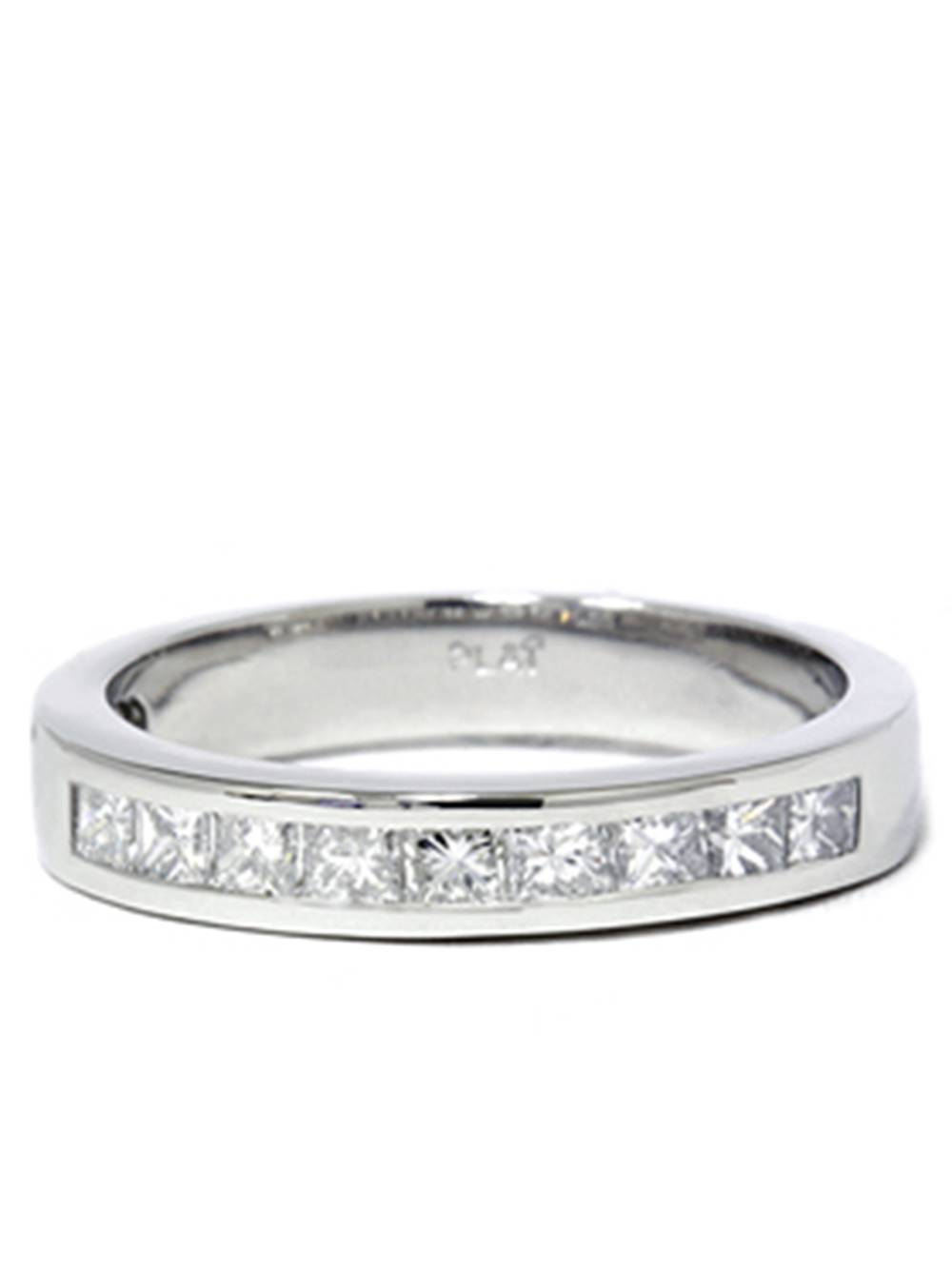 950 Platinum 5 8ct Princess Cut Diamond Wedding Ring by Pompeii3