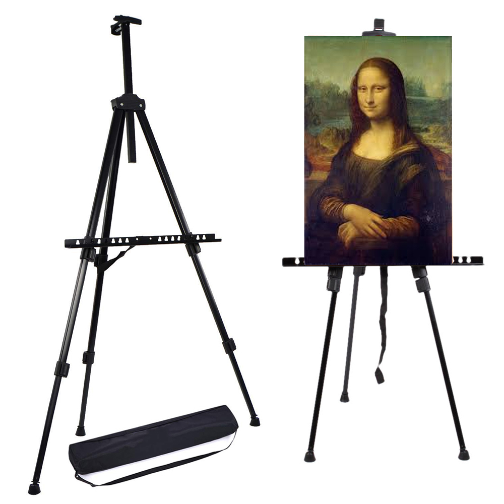 Telescopic Artist Painting Easel Tripod Folding Studio Canvas Display Stand