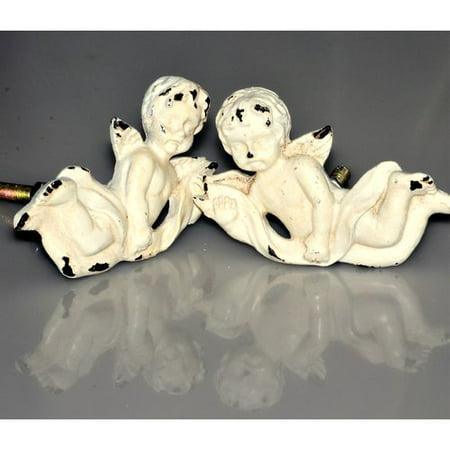 Charleston Knob Company Handpainted Art Deco Cherubs Novelty Knob (Set of 2) (Novelties Company)