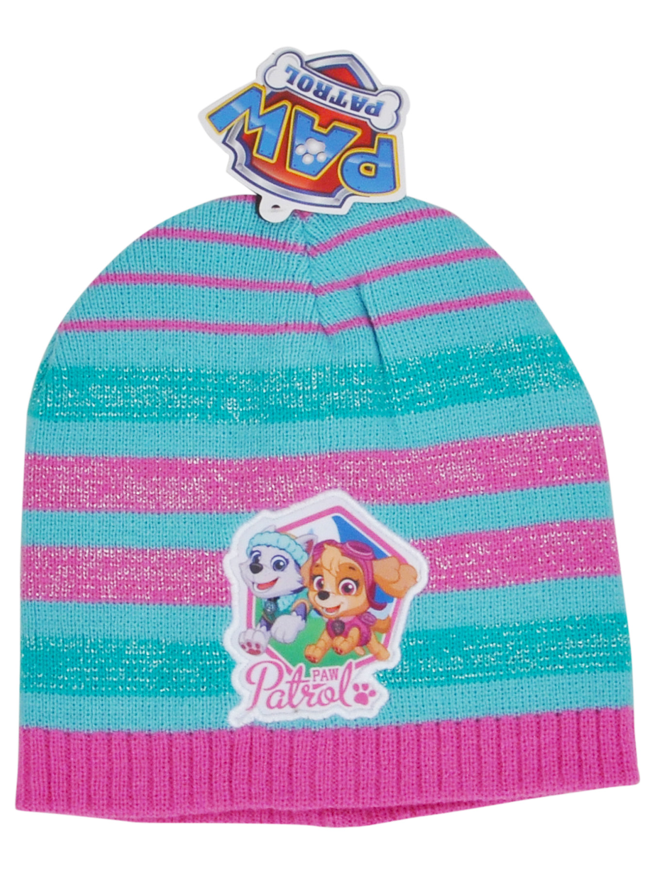 Girls Knit Cuffed Beanie Hat Choose Minnie Paw Patrol Frozen Disney ... 7be9f930875