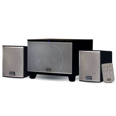 Theater Solutions TS220 Powered Bluetooth 2.1 Speaker System with FM Tuner Home Multimedia Computer (Soundbar With Fm Tuner And Bluetooth India)