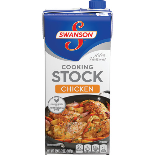 Swanson Chicken Cooking Stock, 32 oz Carton (3 Packs)