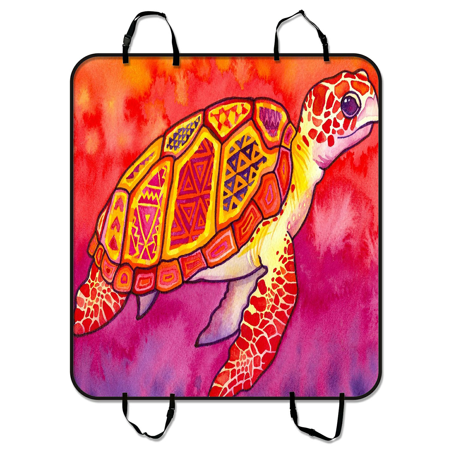 ZKGK Sea Turtle Painting Dog Car Seat Cover Dog Car Seat ...