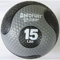Elite Deluxe Medicine Ball in Black and Gray