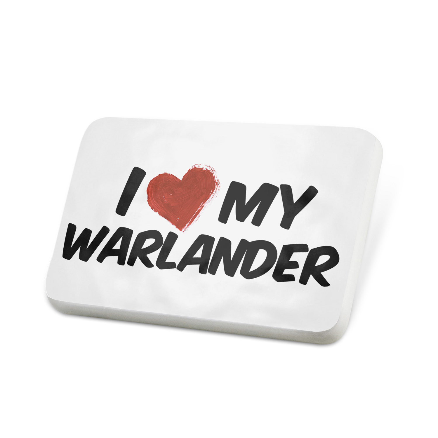 Porcelein Pin I Love my Warlander, Horse Lapel Badge – NEONBLOND