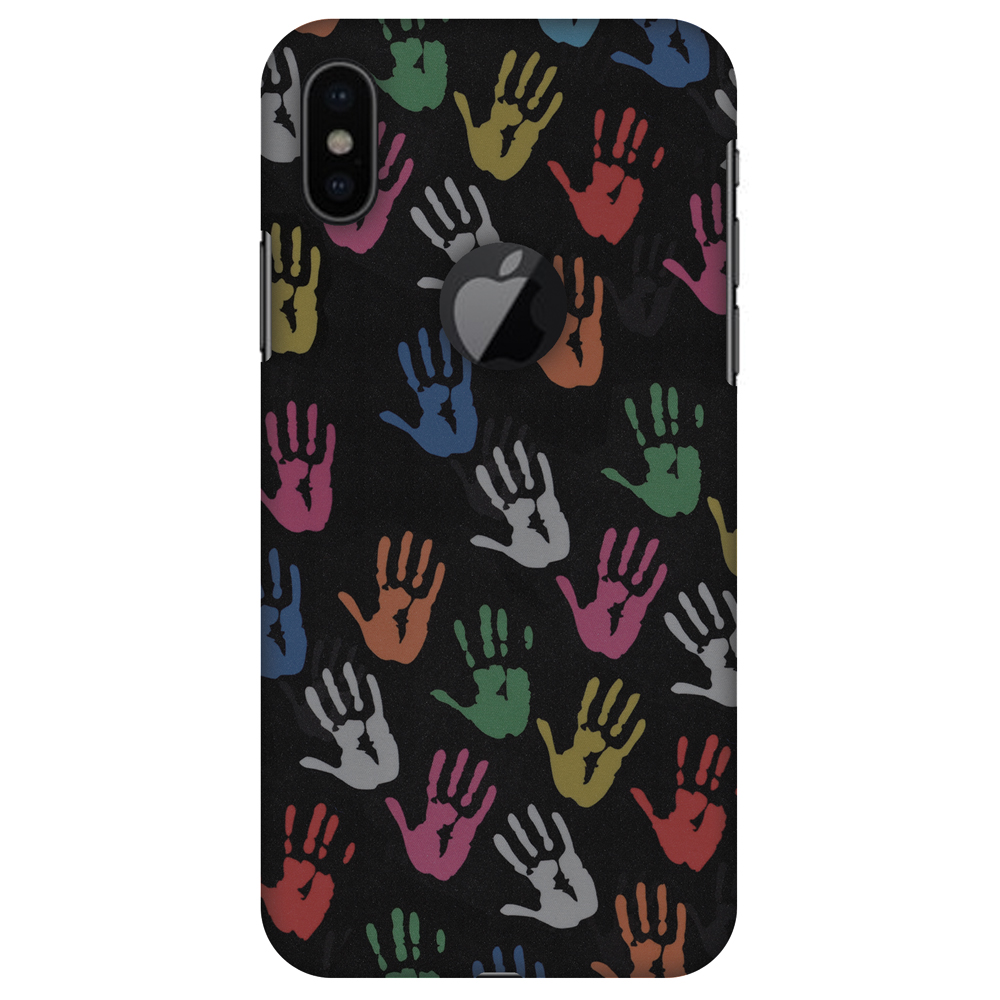 iPhone X Designer Case, Premium Handcrafted Printed Designer Hard ShockProof Case Back Cover for Apple iPhone X - Colour Palms, Thin, Light Weight, HD Colour, Apple Logo Cut