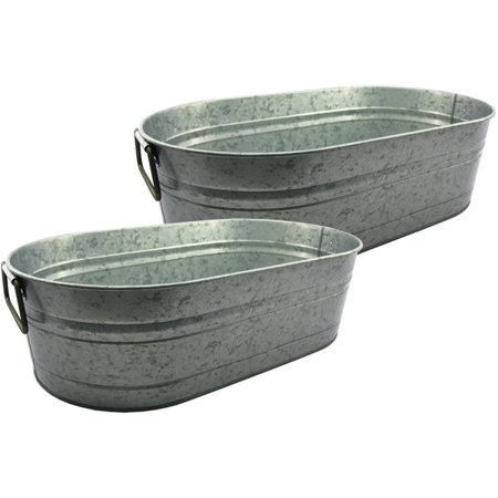 Better homes and gardens set of 2 oval tub for Oval garden tub