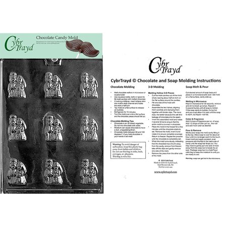 Bride   Groom Mints Chocolate Candy Mold With Exclusive Cybrtrayd Copyrighted Molding Instructions