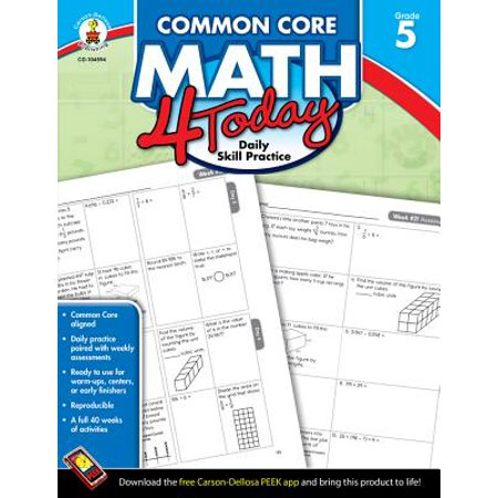 Common Core Kindergarten (Common Core Math 4 Today, Grade 5 : Daily Skill)