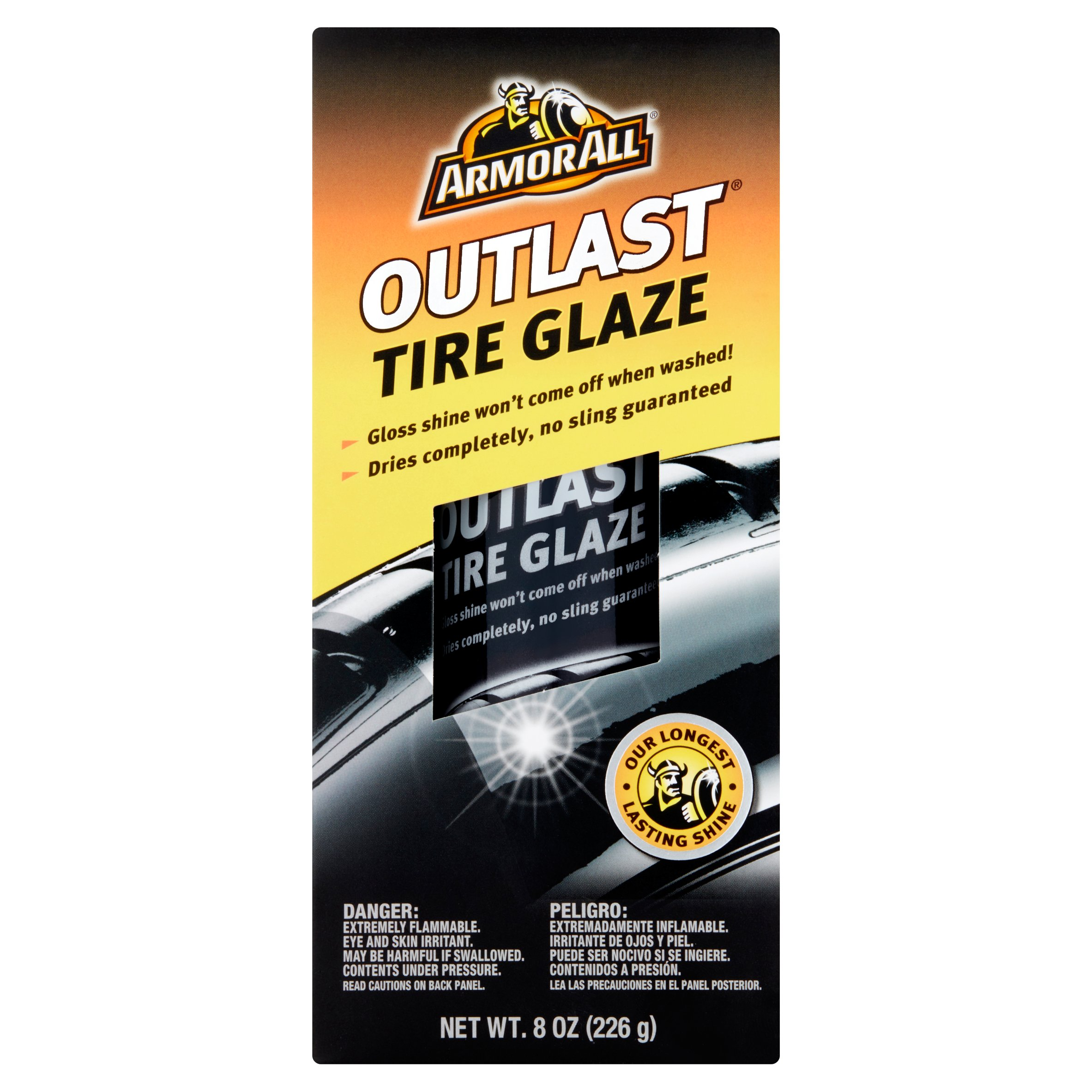 Armor All Outlast Tire Glaze, 8 ounces, Tire Shine, Auto Tire Care ...