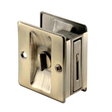 Antique Brass Privacy Lock with Pull Pocket Door Lock Locks For Pocket Doors