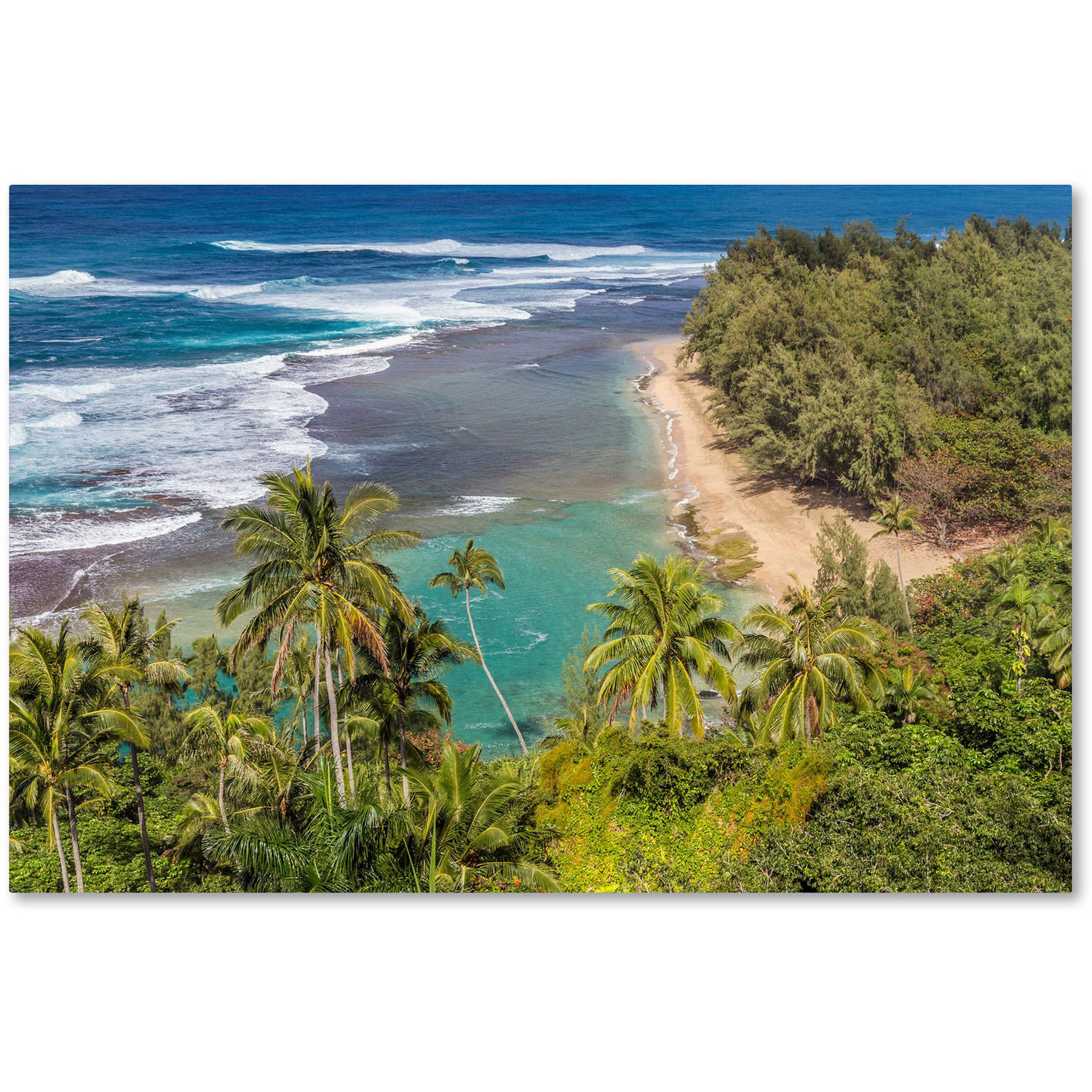 Trademark Fine Art 'Tropical Paradise' Canvas Art by Pierre Leclerc