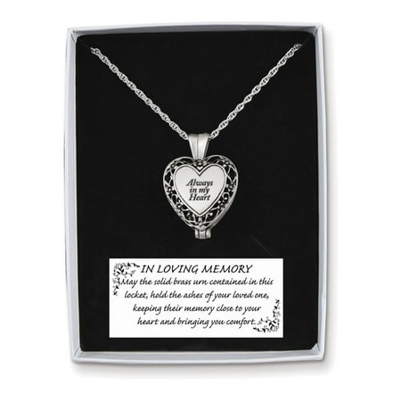 Discount Heart - Always in My Heart Memorial Ash Holder Locket