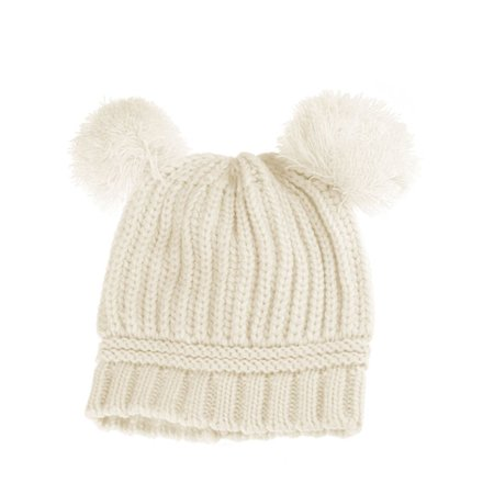 JOYFEEL - JOYFEEL Clearance Dual Pom Poms Ball Knitted Baby Caps Boys Girls  Toddler Crochet Beanie Hat Child Winter Hatfor Baby - Walmart.com 3bd599ae514