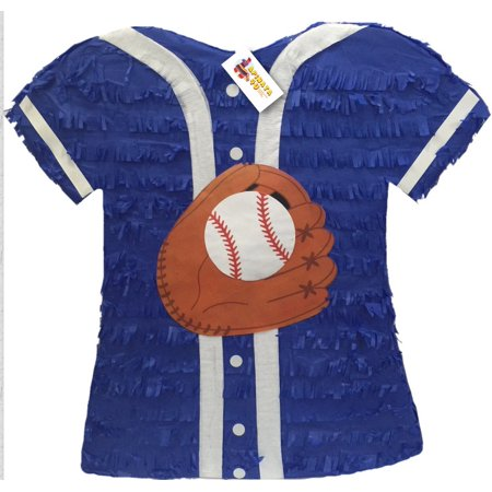 APINATA4U Blue Baseball Jersey Pinata (Baseball Pinatas)