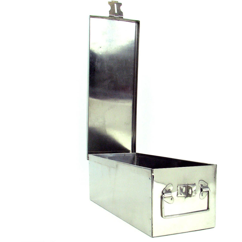Stalwart Metal Storage Lock Box With Lock Hasp, 75 005 Silver   Walmart.com
