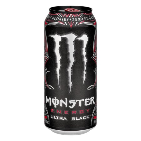 Monster Energy Drink Ultra Black  16 0 Fl Oz