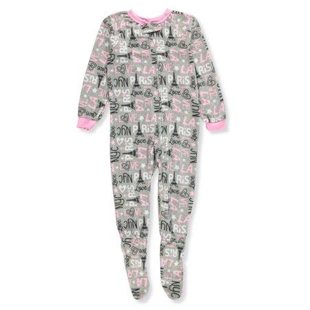 Sweet N Sassy Girls' 1-Piece Footed Pajamas - Sweet Girl