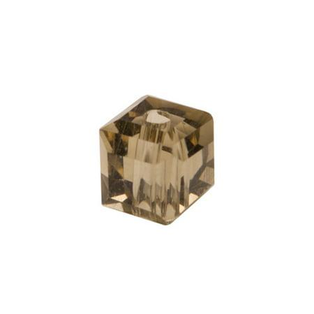 Black Diamond Cube Crystal Beads 4mm, 90 Beads / string of 16 inchs