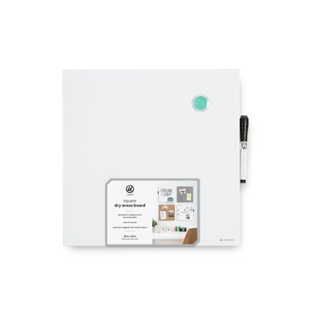 U Brands Magnetic Tile Dry Erase Board, 14 x 14 Inches, White ()