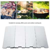 EOTVIA Burner Windshield, Windshield for Cooking Gas Stove,10pcs Foldable Burner Windshield for Outdoor Camping Picnic BBQ Cooking Gas Stove