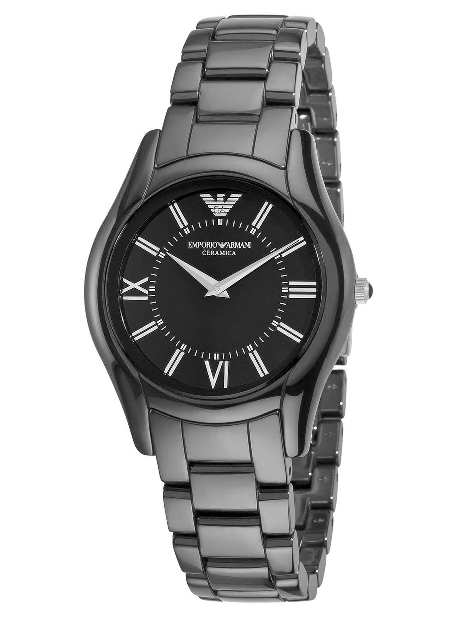 Emporio Armani Women's AR1441 Ceramic Slim Black Dial Watch