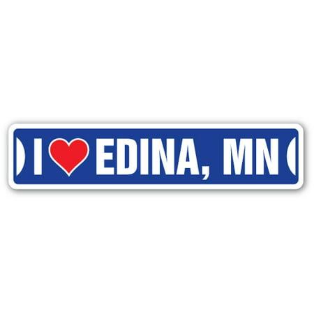 I LOVE EDINA, MINNESOTA Street Sign mn city state us wall road décor gift](Party City Minnesota)