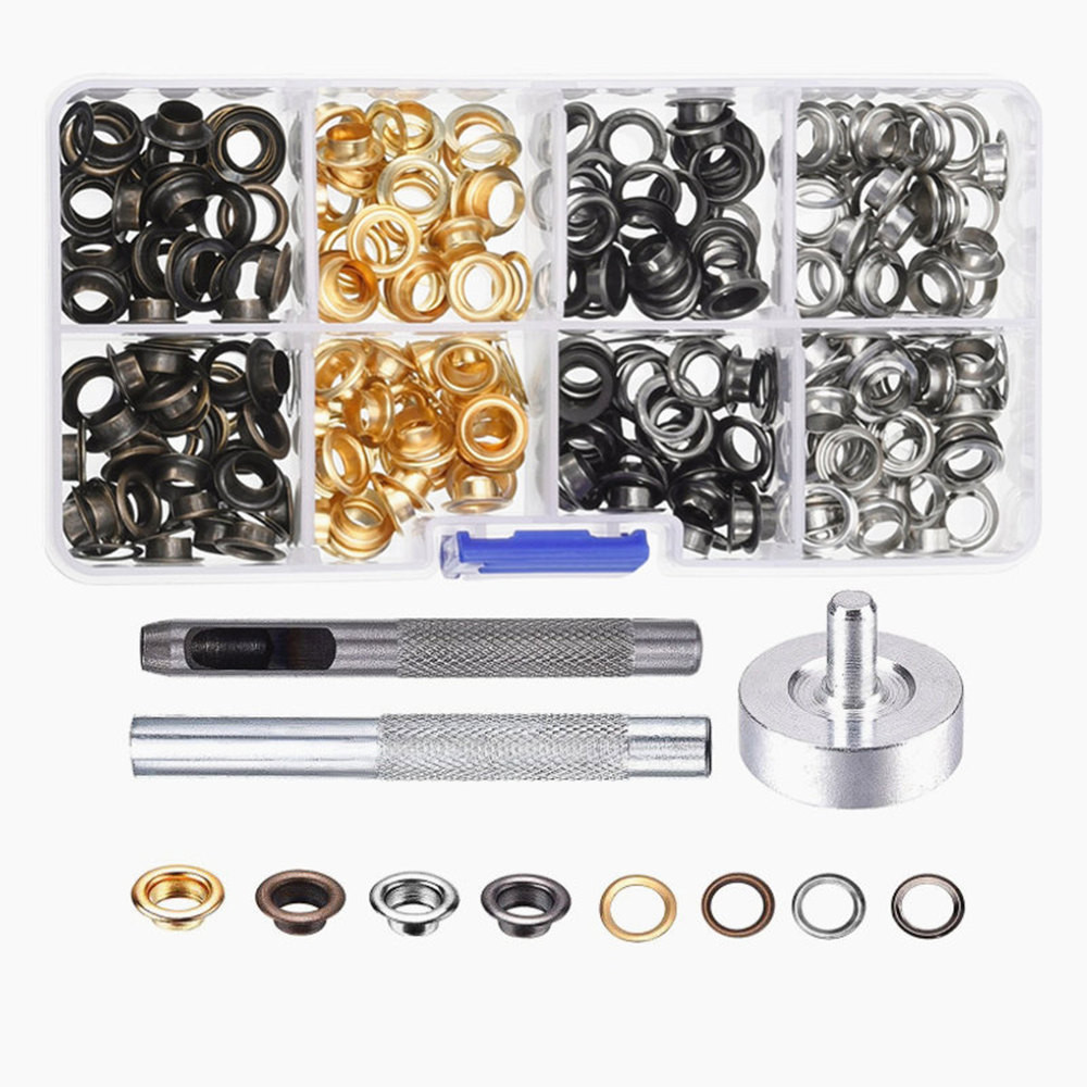 200 Set Grommets Grommet Tools For Canvas Clothes Leather 6mm With Buckle Tool
