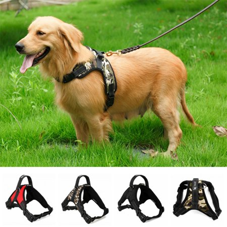 No Pull Dog Harness Reflective Safety Pet Vest Adjustable Dog Harness With Handle for Small/Medium/Large dogs Outdoor Training Walking Traveling (Training A Dog To Pull A Cart)