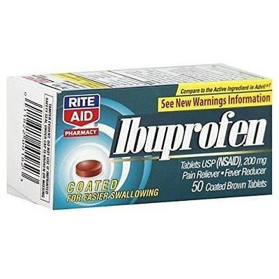 Rite Aid Ibuprofen  50 Ea