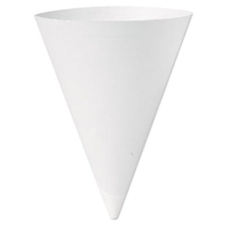 Dart SCC156 Bare Treated Paper Cone Water Cups, 7 Oz., White, 250/bag