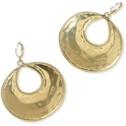 Hammered Gold Tone Crescent Hoop Earrings by Isabella Lazarte for Full Circle Exchange