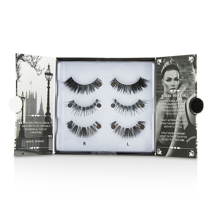 Eylure - The London Edit False Lashes Multipack - # 121, # 117, # 154 (Adhesive Included) -3pairs