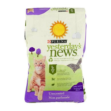 Purina Yesterdays News Unscented Softer Texture Cat Litter  13 2 Lb