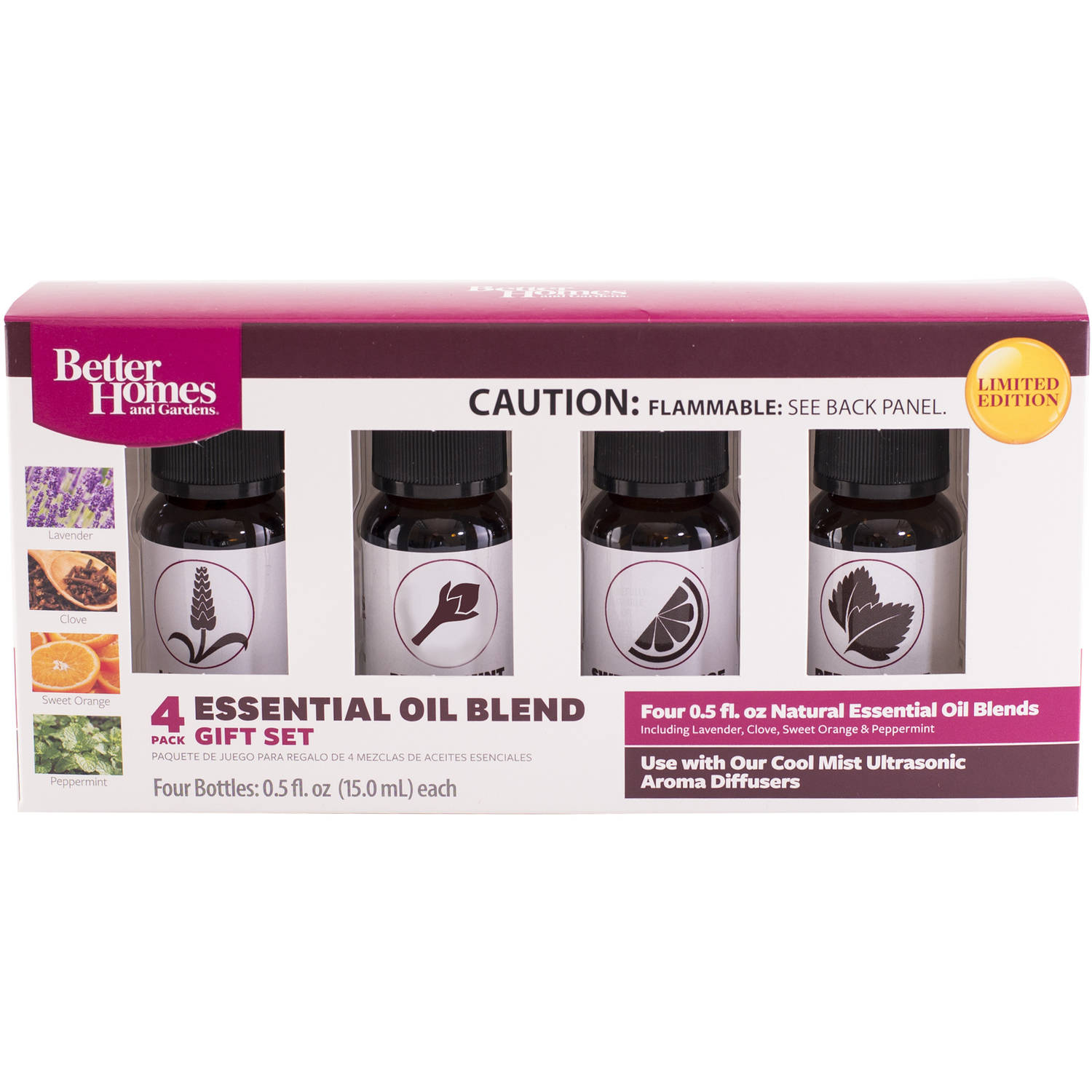 Essential Homes better homes and gardens 4-piece natural essential oil blends