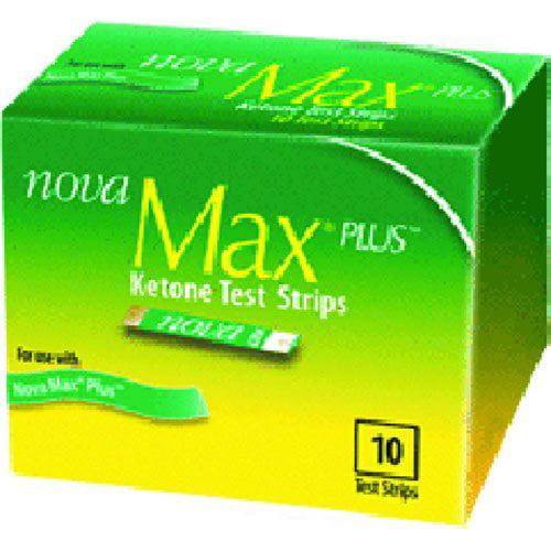 Nova Max Plus Blood Ketone Test Strips Box of 10 - 18 Pack